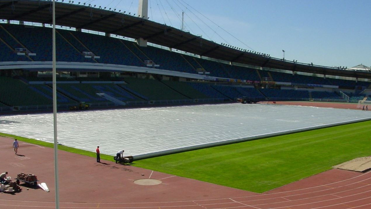 sport fields covers climate protection tencate industrial fabrics